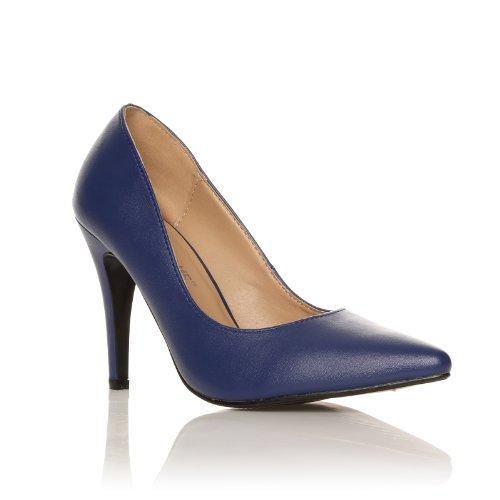 Darcy scarpe a punta blu scuro tacchi a spillo pelle sintetica decolleté Blu scuro pu