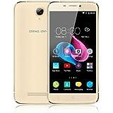 "Ding Ding - Smartphone móvil libre 3G de 5"" 1280 x720 HD(Android 6.0, Pantalla 5.0"", Quad Core, 8GB ROM, 1GB RAM, Dual SIM, ), oro"
