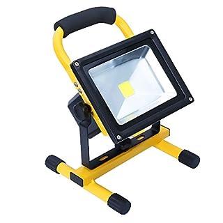 Apgstore LED Arbeitsleuchte Fluter Baustrahler Wiederaufladbar Neutralweiß 20W (20W)