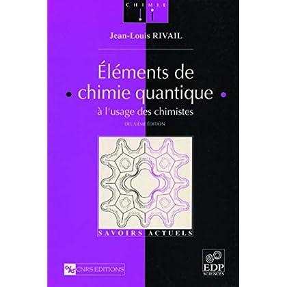 Eléments de chimie quantique, à l'usage des chimistes