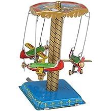 Karussell Mit Flugzeugen Und Fussball Blechspielzeug Globus Blechspielzeug