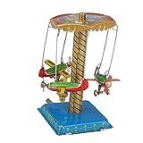 Sharplace Blechspielzeug Karussell Modell Wind up Spielzeug Geschenk Dekoration für Erwachsene und Freunde