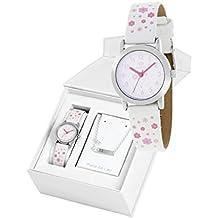 Conjunto reloj marea niña b35284/10 y nomeolvides plata ...