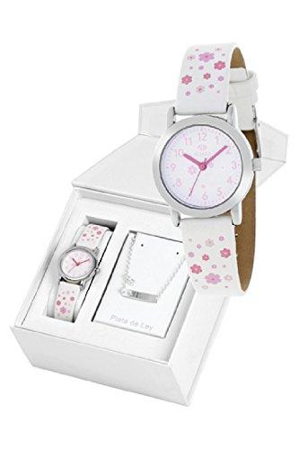 Conjunto reloj marea niña b35284/10 y nomeolvides