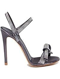 eafb74fb04d YY Escarpins Femme Sandales À Talons Hauts Escarpins Strass Chaussures  D été À