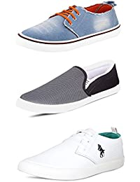 Scatchite Men's Canvas Footwear Sneakers & Casual Shoes - Combo Of 3