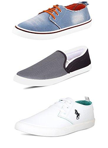 SCATCHITE Men's Multicolor Casual Shoes (Combo of 3) - 9