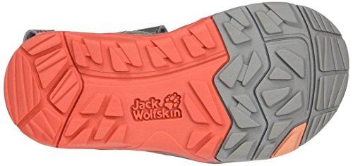 Jack Wolfskin Acora G, Sandales en Plein Air Fille Gris (Hot Coral)