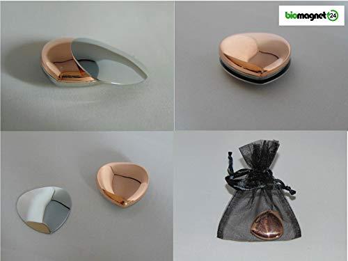 Biomagnet24, Magnetherz Kupfer, Power Herz, Power Magnet Herz, Body Magnet, 5000 Gauss