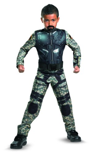 G.i. Joe Retaliation Roadblock Classic Costume, Black/Camo, Large