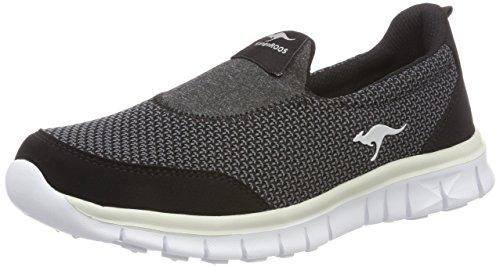 KangaROOS Damen K-Run Jey Slip On Sneaker, Schwarz (Jet Black/Vapor Grey), 41 EU