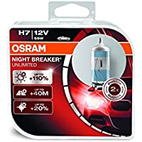 OSRAM NIGHT BREAKER UNLIMITED H7, Halogen headlamp, h7 headlight bulb, 64210NBU-HCB, 12V passenger car, duobox (2 units)