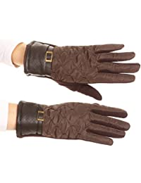 Sakkas Emie Quilted und Lace Super Soft Warm Driving Handschuhe Touchscreen Capable