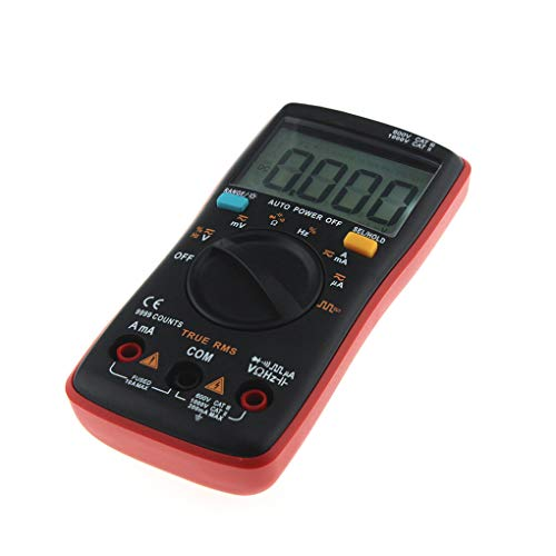 mailfourn Auto Gamma multimetro digitale 9999 conta con retroilluminazione AC/DC voltmetro di Ohm Transistor Test