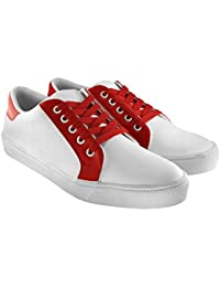 Blinder Men's Trendy White Blue And Red Casual Sneakers Shoes For Men On Amazon.in