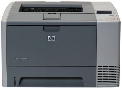 Top HP LaserJet 2420 – Printer – B/W – laser – Legal, A4 – 1200 dpi x 1200 dpi – up to 28 ppm – capacity: 350 sheets – parallel, USB Online