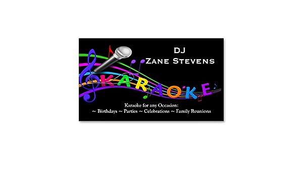 Modle De Carte Visite Karaoke Du DJ Amazonfr Fournitures Bureau