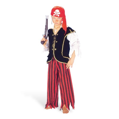 tüm Kinder Seemann Jungen Look 2-teilig aus Hemd Hose Captain Jack Held der Meere - 140 (Seemann-kostüm Für Jungen)