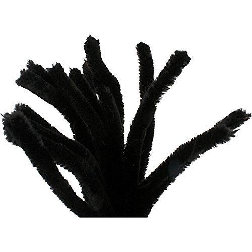 (Chenilledraht, Dicke 6 mm, L: 30 cm, schwarz, 50Stck.)