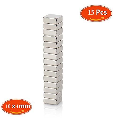 Neodym Magnet, Mini Magnete, Quadratisch N48 Stärke 15 stark 10x 10 x 4 mm für Kühlschrank und Magnettafeln, Magnete für Magnettafeln, Magnete für - Magnete Quadratische