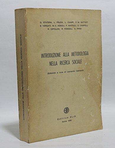 Introduzione alla metodologia e alle tecniche della ricerca sociale