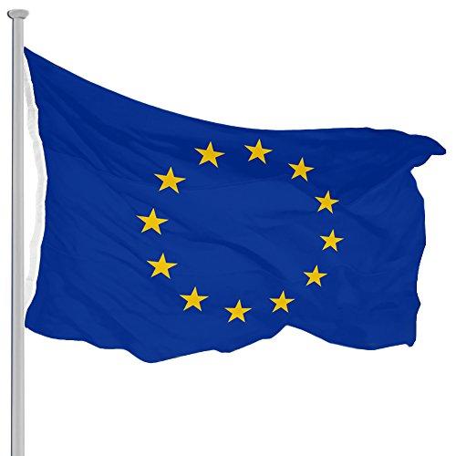 Fahnenmast EU Flagge Aluminium 650cm Seilzug Bodenhülse Mast