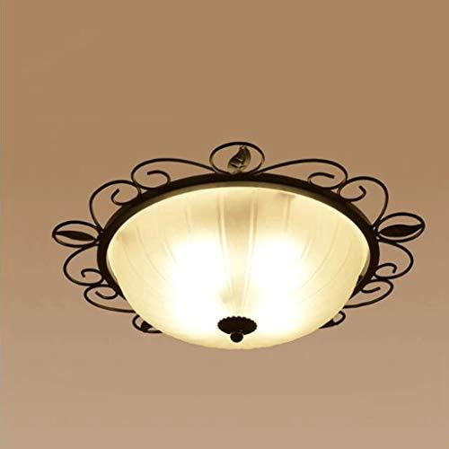 WENYAO Retro Led Lampe Eisen Garten Wohnzimmer Lampe Schlafzimmer Lampen Kinder Arbeitszimmer Lampe Praktische Kristall Sand Glas Eisen Handwerk E27 * 5 Lichtquelle (Größe: 60 * 22 cm)