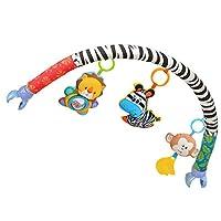 Sitrda 1PCS Cute Zebra & Lion & Monkey Plush Toys Baby Pram Crib Plush Toys Travel Arch Toy Help Strengthen Developing Muscles