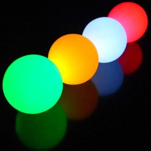 Boule lumineuse LED - Sphère Lumineuse qui change de couleurs - Lampe déco et veilleuse - Diamètre 7 cm