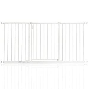 Safetots Extra Wide Hallway Gate White 147cm - 152cm   1