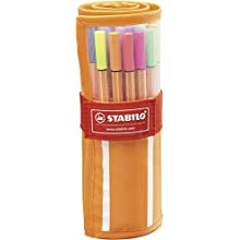 Fineliner - STABILO point 88 Rollerset of 30 Assorted Colours incl 5 neon colours