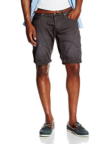 TOM TAILOR Denim Herren Shorts Colored Twill Bermuda Grau (pavement grey 2701)