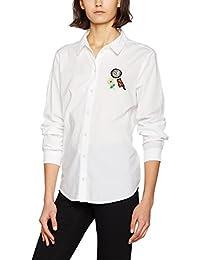 Vero Moda Vmbadge LS Shirt Dnm, Blusa para Mujer