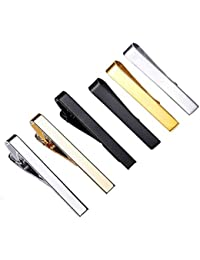 c253a09281b9 Sheng Xuan 6 Pcs Men Pieces Ties Bar Clip/Tie Clip Bar Set, Stainless Steel Necktie  Clip Pin Bar Cufflinks Shirt Wedding…