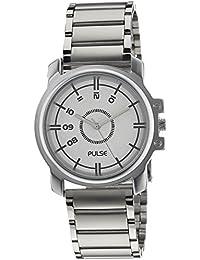 Pulse Analog White Dial Men's Watch - PL0704
