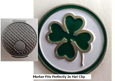 Four Leaf Clover Golf Ball Marker w/ Silver Hat Clip