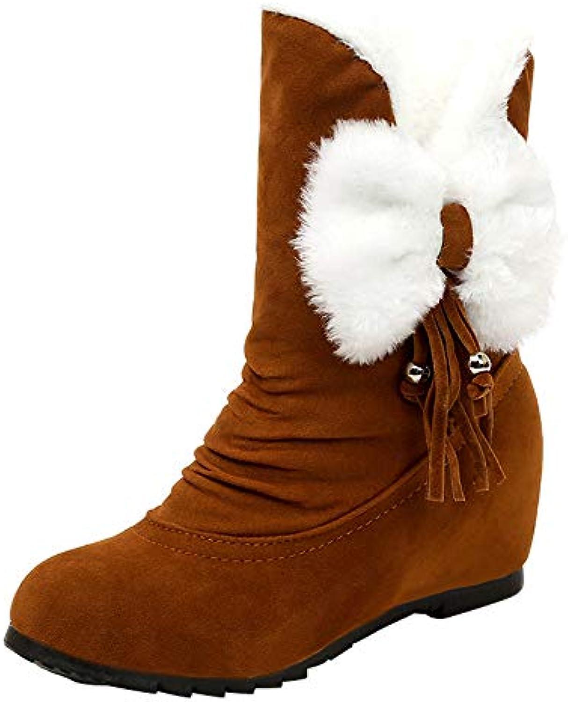 Fuibo Rond Chaussures à Talons Compensés en Daim à Bout Rond Fuibo Femmes Hiver Garder Au ChaudB07JPZLW7GParent a7f4e2