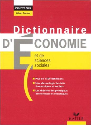 Dictionnaire d'conomie et de sciences sociales