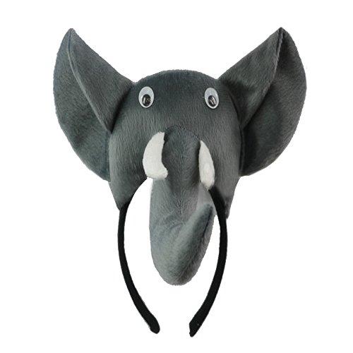 Elefant Kopfband - SODIAL(R)3D Elefant Kopfband Tier Bauernhof Erwachsene Kinder Kostuem Maske - Maskenball Kostüm Kinder