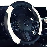 2019 Nuova copertura per volante dell'automobile in pelle microfibra coprivolante bianca