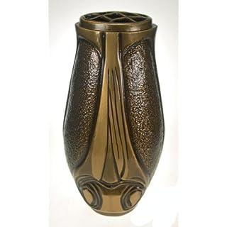 Art-Odlew Grabvase Medingen aus Bronze. , D=11cm H=29cm 3,5Kg