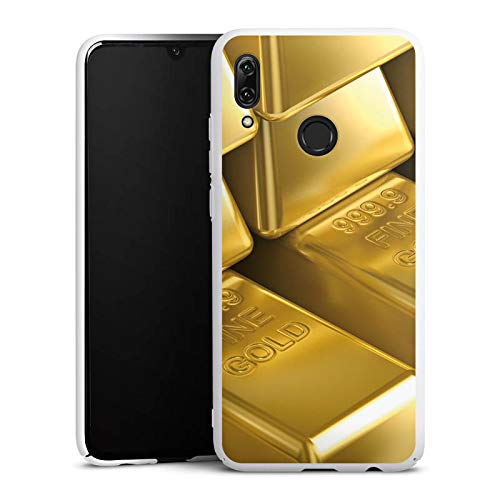 DeinDesign Hülle kompatibel mit Huawei P Smart 2019 Handyhülle Case Goldbarren Gold Barren