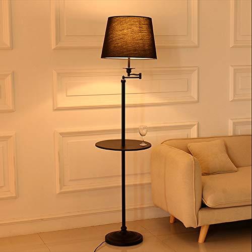 ZSAIMD Stehlampe, Fabric Drum Shade, moderne Stehlampe for Schlafzimmer, Wohnbereich, Arbeitszimmer, hohe Mastleuchte for das Büro - 360 ° -Beleuchtung mit schwarz lackiertem Tablett Leuchten E27 (Drum Lampenschirme Nur)