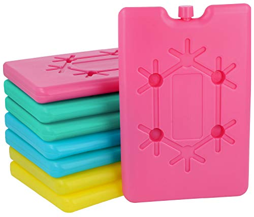 com-four® 8X Extra flaches Kühlakku - Platzsparend und ideal für Kühlbox und Kühltasche - Kühlelement (08 Stück - klein)