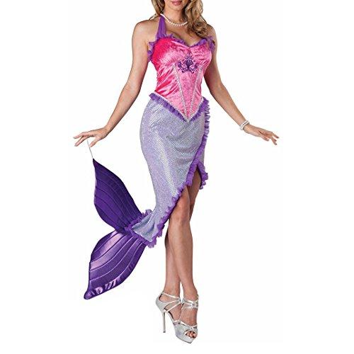 Frauen Sexy Meerjungfrau Halloween Kostüm PURPLE1097