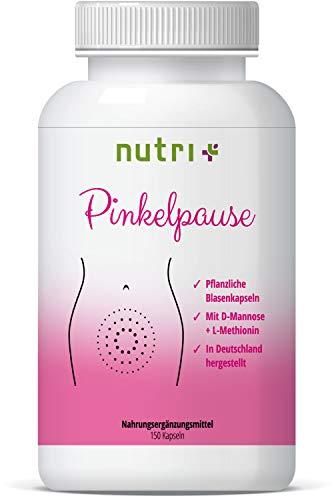 PINKELPAUSE - Blasenkapseln mit D-Mannose, L-Methionin und Cranberry-Extrakt - Harnweg & Blase Komplex - 150 Kapseln - von Ernährungswissenschaftlern in Deutschland hergestellt
