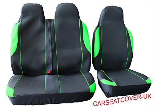 Citroen Berlingo - Green MotorSport Van Seat Covers - Single + Double
