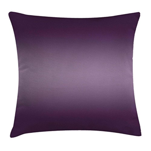 Ombre Throw Pillow Cushion Cover, Hollywood Theater Inspired Digital Purple Colored Modern Design Room Decorations Artwork, Decorative Square Accent Pillow Case, 18 X 18 inches, Plum