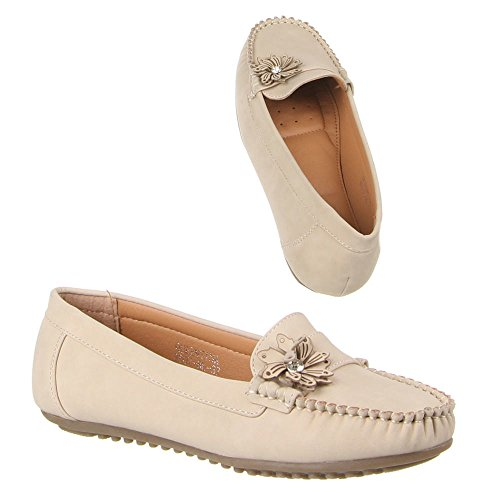 Damen bl Beige B807 Schuhe Mokassins wXqfrXp