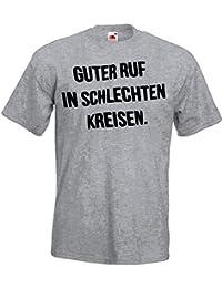 048611d64bf9 TRVPPY Herren T-Shirt mit Spruch Motiv Guter Ruf In Schlechten Kreisen in